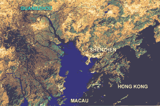 Map of Pearl River Delta